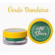 Glitter comestível Art Decor Verde Bandeira 5g