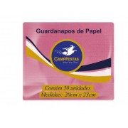 Guardanapo Crepado Folha Simples – 20cm x 23cm 50und ROSA CLARO