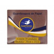 Guardanapo Crepado Folha Simples – 20cm x 23cm 50und MARROM