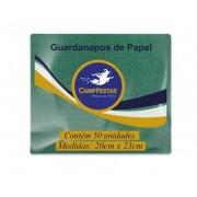 Guardanapo Crepado Folha Simples – 20cm x 23cm 50und VERDE BANDEIRA