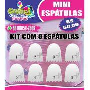 Kit MINI ESPÁTULAS de acrílico - 6x7cm 8 un