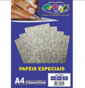 Papel especial glitter 180g Pink c/5 folhas