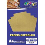 Papel especial Metalizado 150g Ouro Velho c/15 folhas