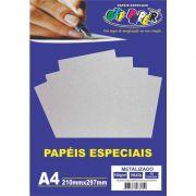 Papel especial Metalizado 150g Prata c/15 folhas
