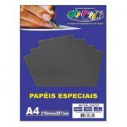 Papel especial Metalizado 150g Preto c/15 folhas