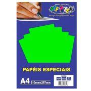 Papel especial Neon 180g Verde c/20 folhas