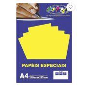 Papel especial Plus 120g Amarelo Lumi  c/20 folhas