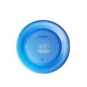 Prato descartavel raso Azul 15cm 10und1