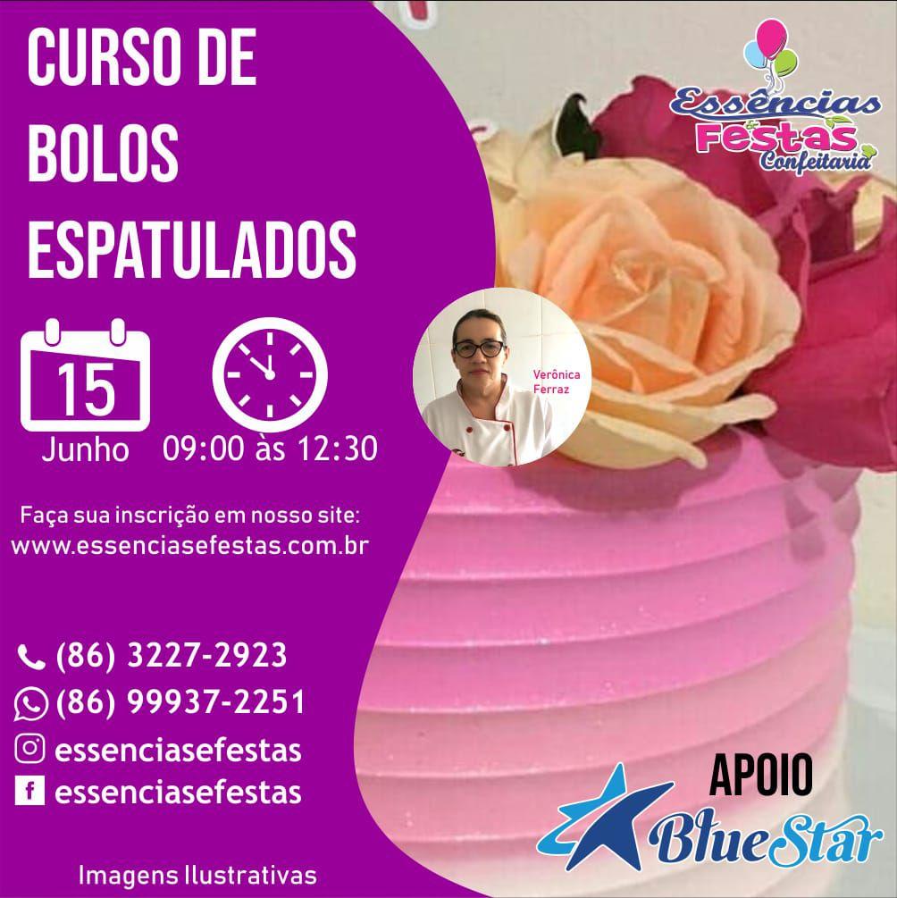 15/06 - Curso de Bolos Espatulados Bluestar com Verônica Ferraz das 9h as 12:30h