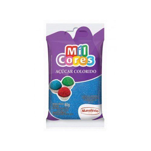 Açúcar Colorido Azul Mil Cores - 80g