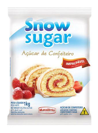 Açúcar de Confeiteiro impalpável Snow Sugar 1kg