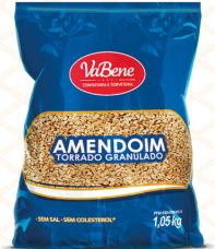 Amendoim torrado granulado 1,05kg