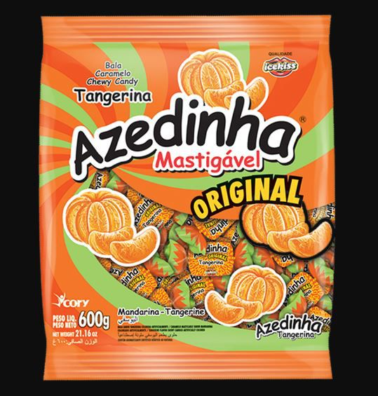 Bala Mastigável Azedinha TANGERINA Ice Kiss - 600g
