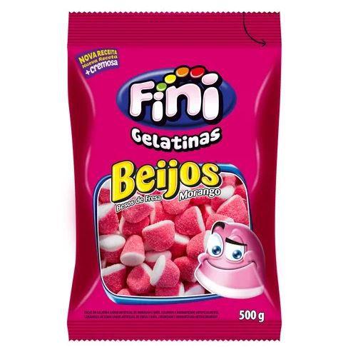 Beijos de Morango Açucarados de gelatinas - 100g