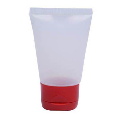 Bisnaga plástica 30g com 10 und Tampa Vermelha