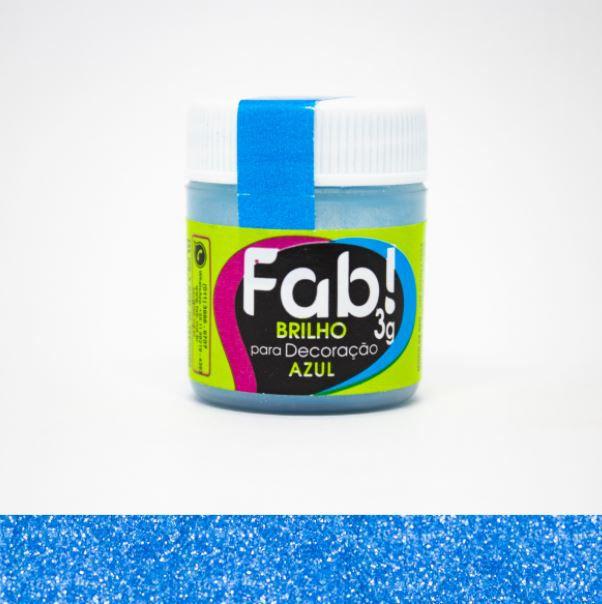 Brilho para decoração Azul Fab! 3g