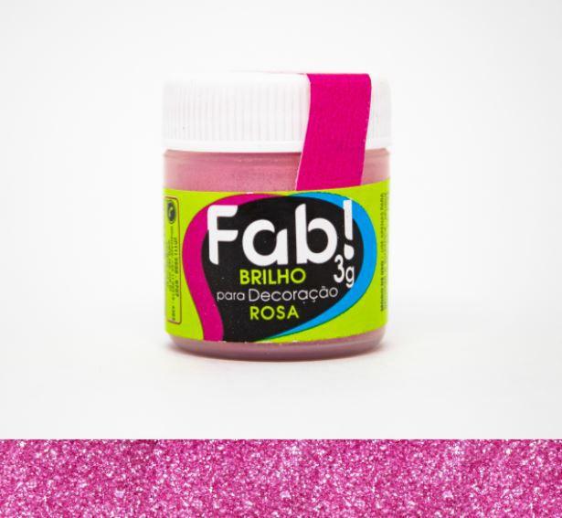 Brilho para decoração Rosa Fab! 3g