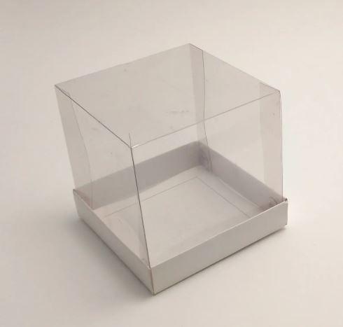 Caixa mini bolo 13x13x12,5 Branco 10und desmontada
