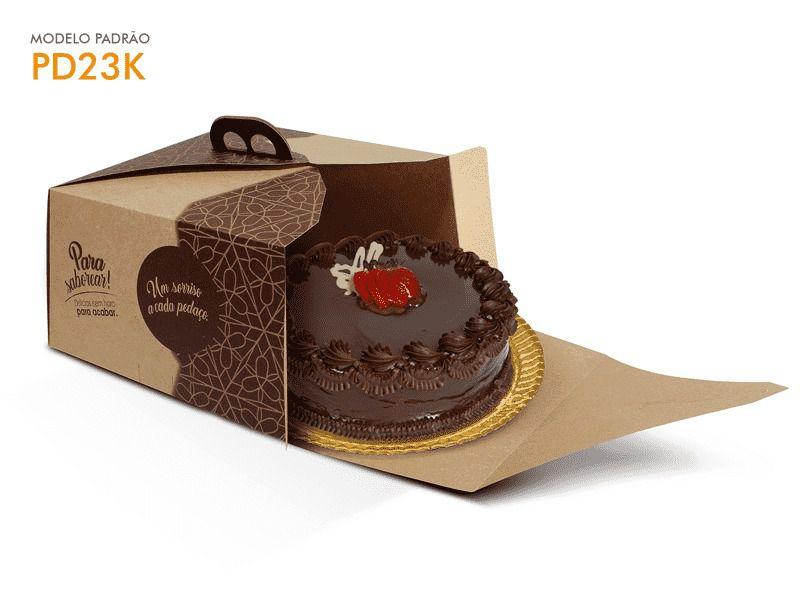 Caixa para bolo kraft 30x30x13,5 bolos de até 2kg desmontada