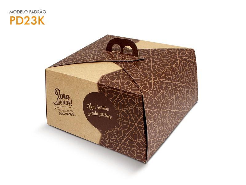Caixa para bolo kraft +reforçada 30x30x13,5 bolos de até 2kg desmontada