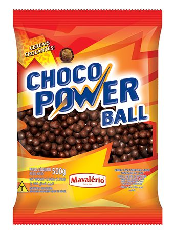 Cereal Drageado Sabor Chocolate Choco Power Ball 500g