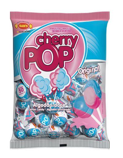 Pirulito Cherry Pop Algodão-Doce - 700g