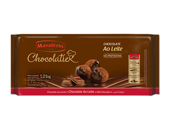 Chocolate ao leite Chocolatier Mavalério 1kg
