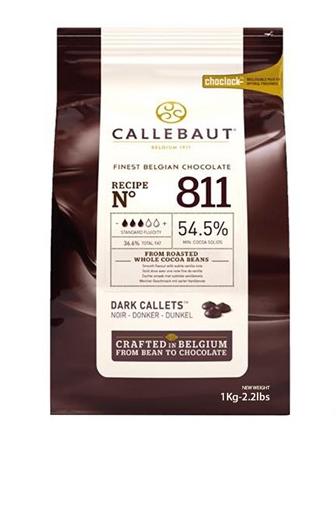 CHOCOLATE BELGA CALLETS AMARGO 811 (54,5% CACAU) - GOTAS 1KG CALLEBAUT