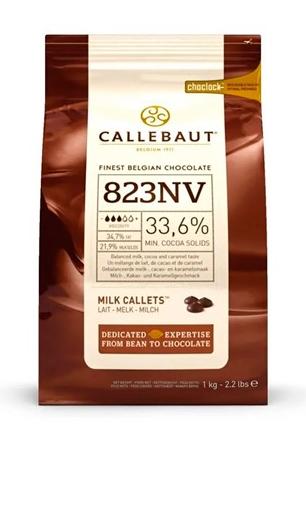 CHOCOLATE BELGA CALLETS AO LEITE 823 (33,6% CACAU) - GOTAS 1KG CALLEBAUT