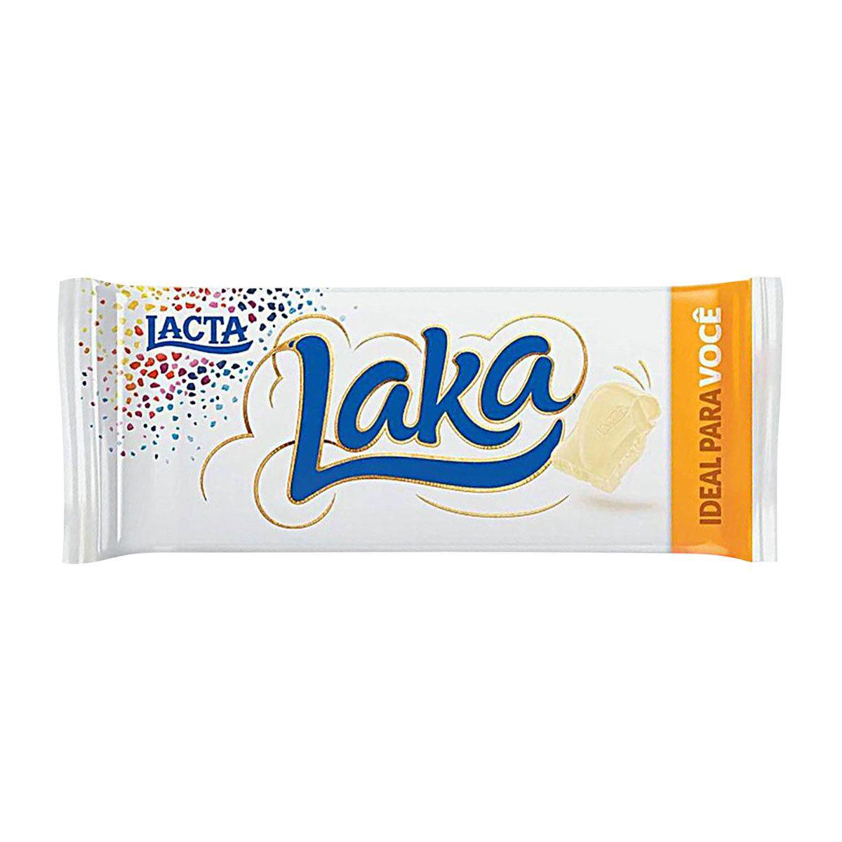 Chocolate BRANCO LAKA 90G - LACTA