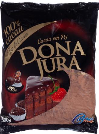 Chocolate em Pó 100% Cacau Dona Jura Pacote 500g