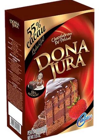 Chocolate em Pó 55% Cacau Dona Jura caixa 200g