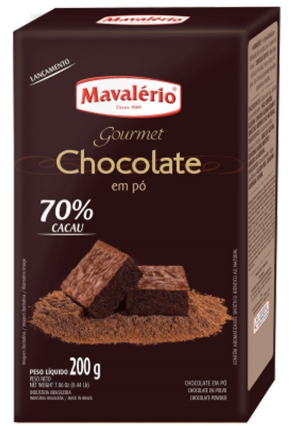 Chocolate em Pó Solúvel 70% Cacau Mavalério 200g