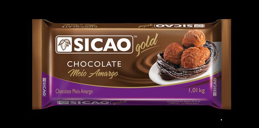 Chocolate  Meio Amargo Sicao gold 1kg