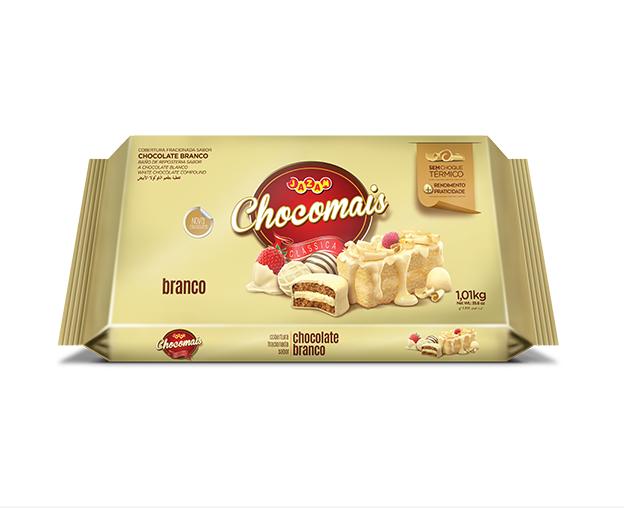 CHOCOMAIS BRANCO 1,01Kg- COBERTURA FRACIONADA