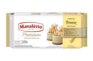 Cobertura Fracionada Premium Sabor Chocolate branco 1kg