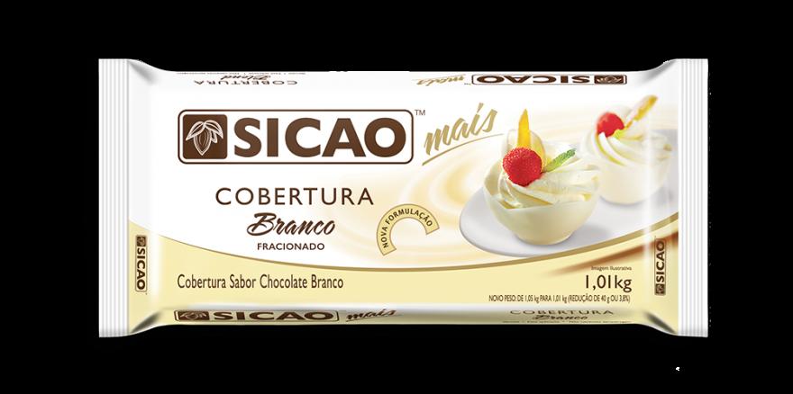 Cobertura Mais Sabor Chocolate Branco 1kg Sicao