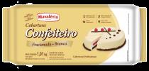 Cobertura Prática Confeiteiro Sabor chocolate em branco 1kg