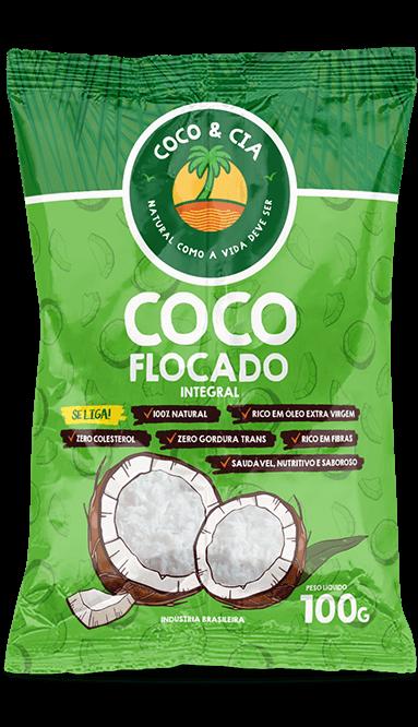 Coco Flocado integral 100g -  Coco & Cia