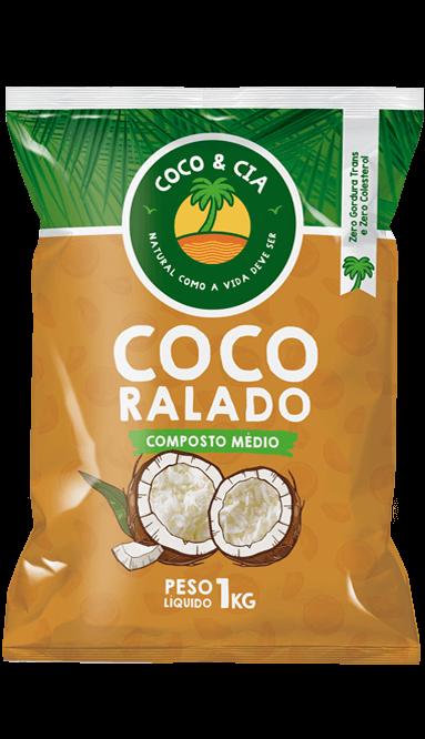 COCO RALADO COMPOSTO MÉDIO 1 kg - COCO & CIA