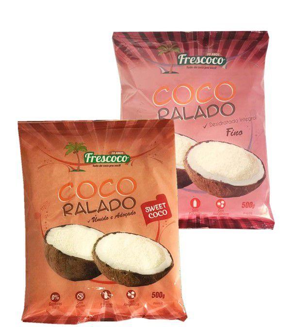 COCO RALADO FINO INTEGRAL / ADOÇADO 250g - FRESCOCO
