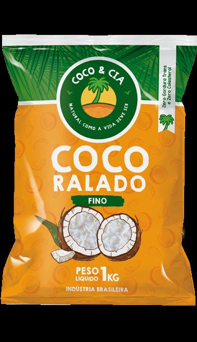 COCO RALADO INTEGRAL FINO 1 kg - COCO & CIA