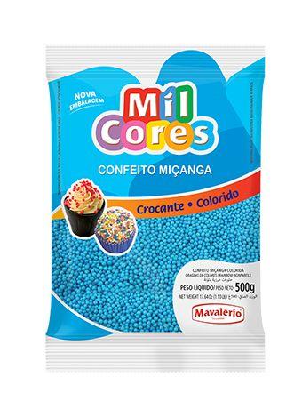 Confeito Miçanga azul 500g