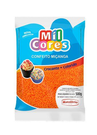 Confeito Miçanga laranja 500g