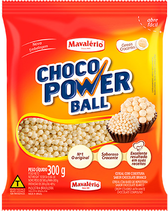 Cereal Drageado Mine Sabor Chocolate Branco Choco Power Ball 300g