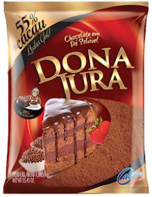 Chocolate em Pó 55% Cacau Dona Jura Pacote 1Kg