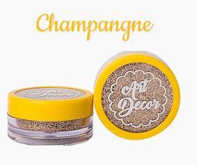 Glitter comestível Art Decor Champagne 5g
