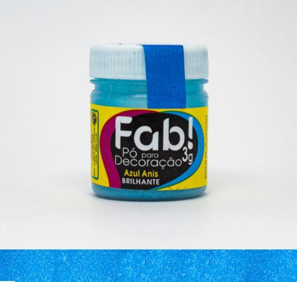 Pó para decoração Azul anis Fab! 3g