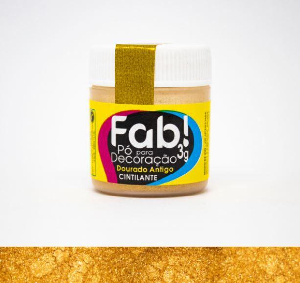 Pó para decoração Dourado Antigo Fab! 3g