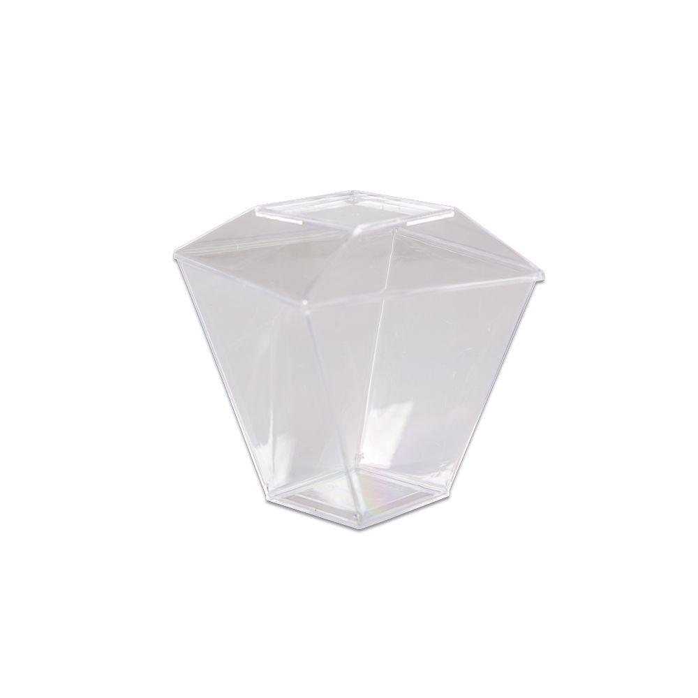 Copo Quadratto com tampa 150ml - 10 und